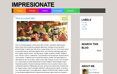 Impresionate Blogger Template