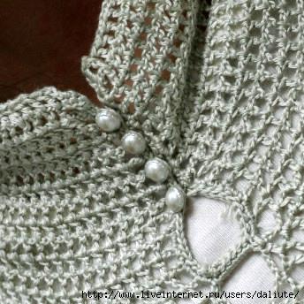 Вязание горла крючком