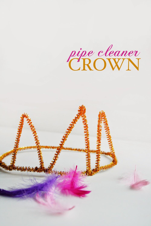 pipe cleaner crown diy