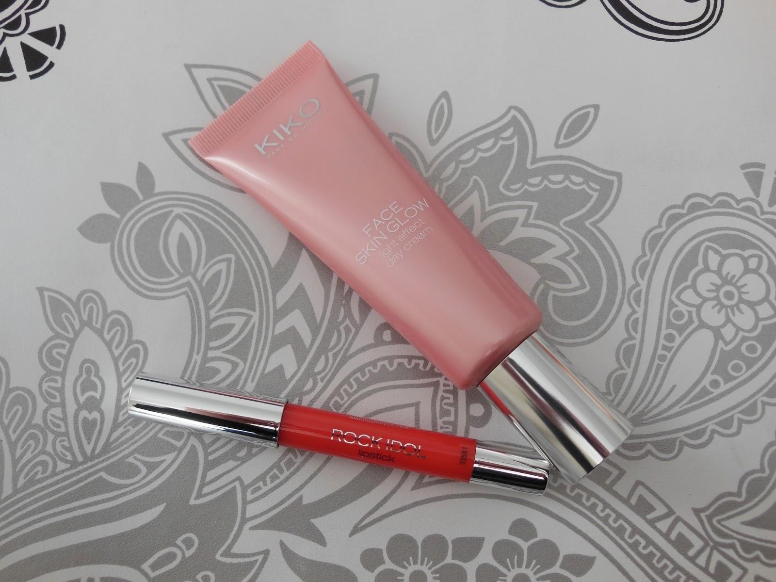 Kiko rock idol lipstick and face skin glow