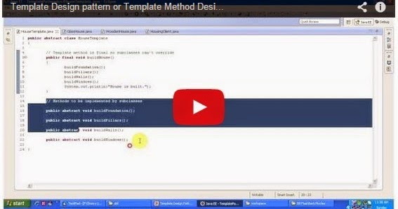 Java ee template design pattern or template method design for Object pool design pattern java example