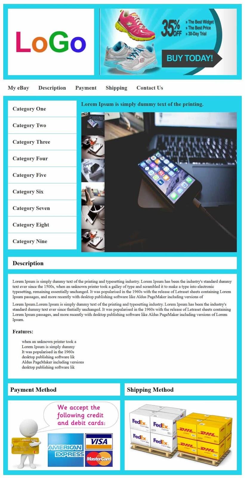 Ebay Listing Template