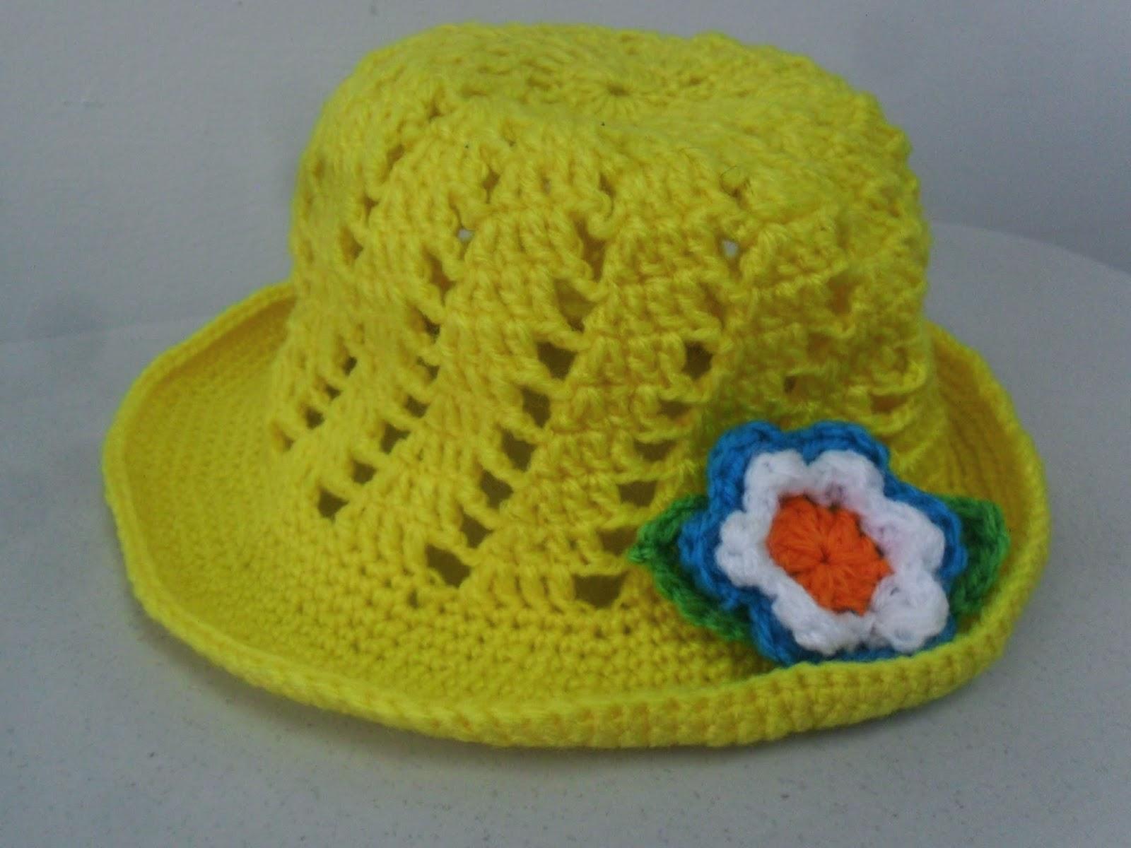 El Baul de Crochet y Telar: Patron de Sombrero para niña, Garden ...