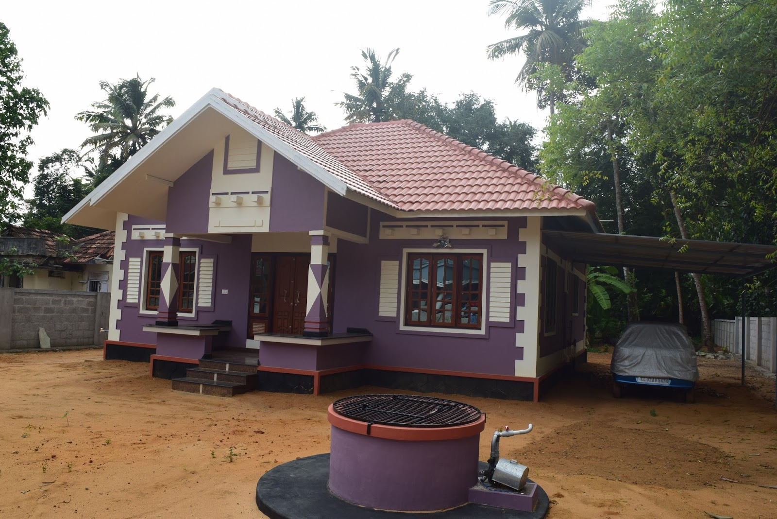 Low cost house design at trivandram building designers for Low cost house plans with estimate