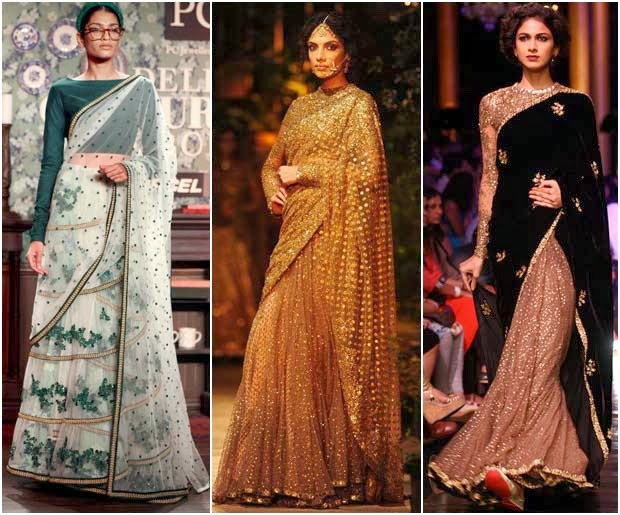 model walk at sabyasachi designer saree