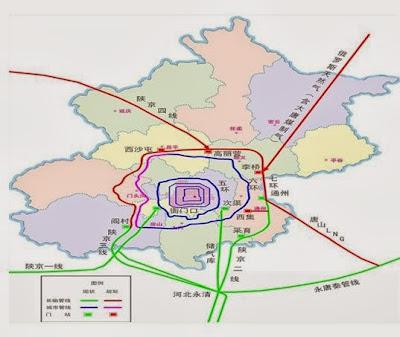 北京市 十二五 時期天然氣設施分佈圖
