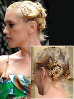 сплетена коса на малки кокчета с плитки