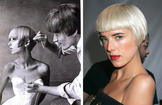 Ulla Bomser and Vidal Sassoon, Box Bob, Agyness Deyn