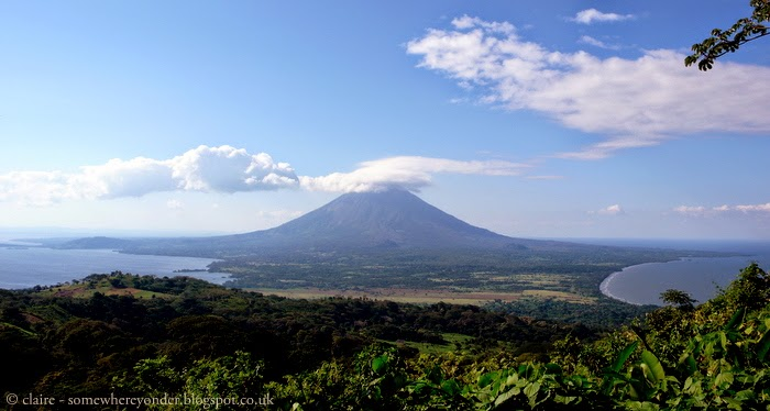 view of Volcano Concepción from summit of Volcano Maderas Isla de Ometepe - Nicaragua 2009