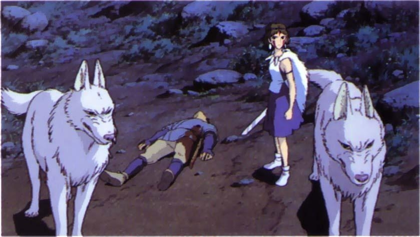 San and wolves Princess Mononoke 1997 disneyjuniorblog.blogspot.com