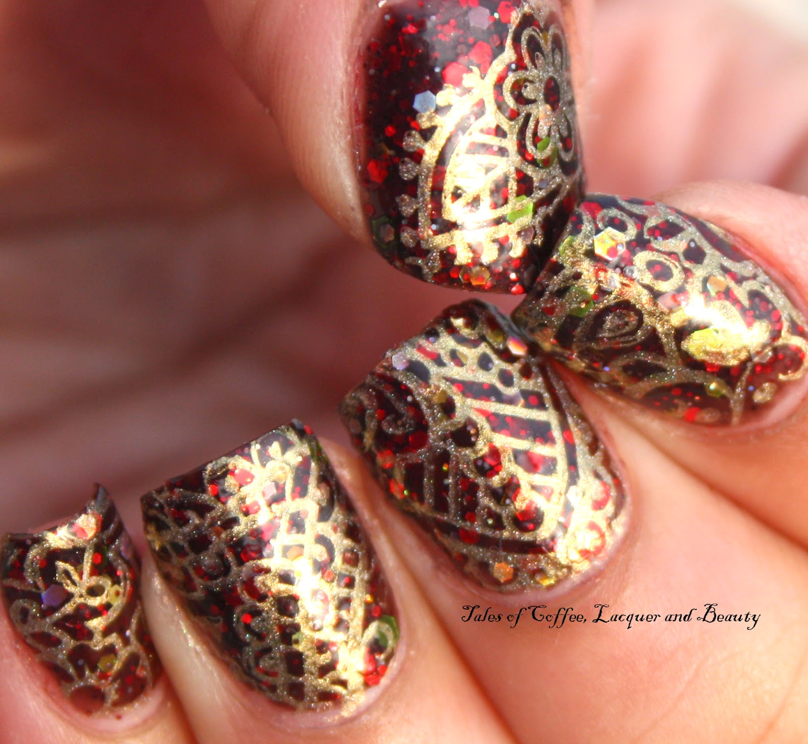 Tales Of CoffeeLacquer And Beauty Gold Henna Stamping With