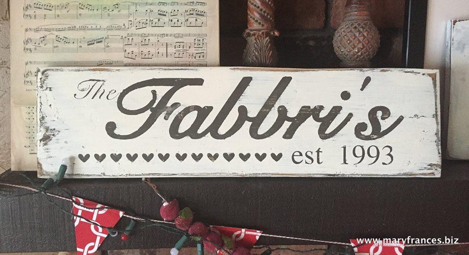 Maryfrances Fabbri: Wood Signs
