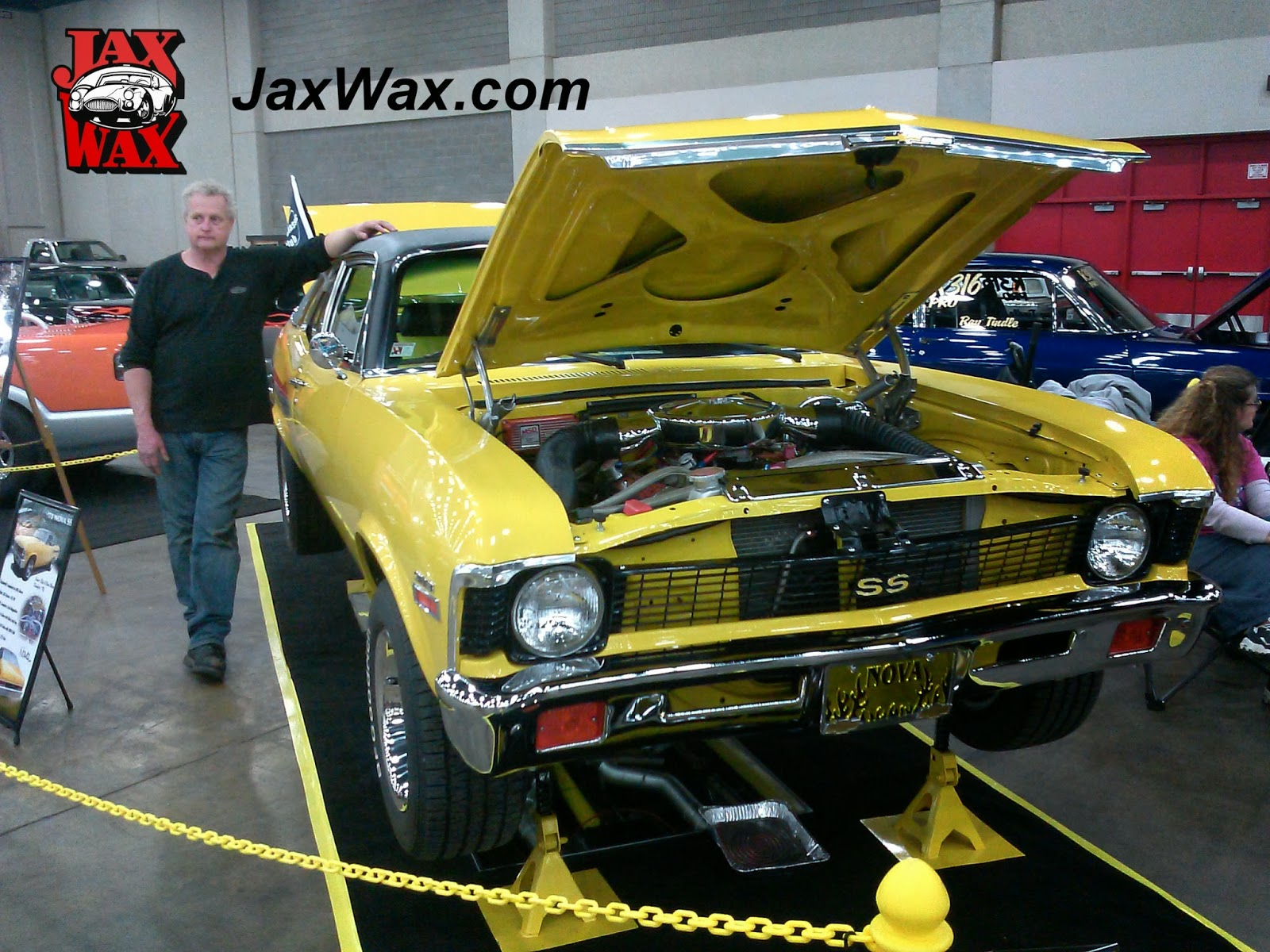 1971 Chevy Nova SS Carl Casper Auto Show Jax Wax Customer