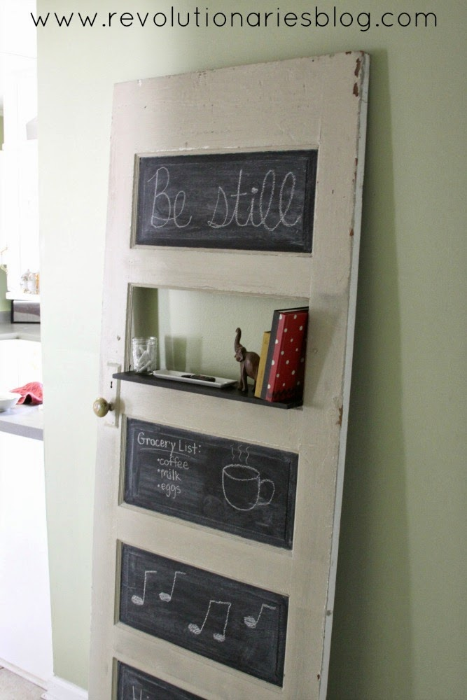 DIY Decor: A Fun Chalkboard Door (with a shelf!)