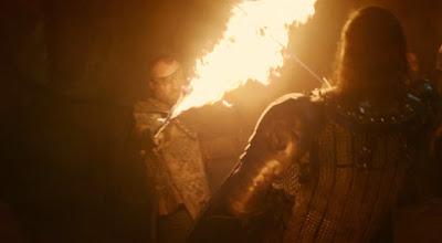 pelea entre beric y Sandor Clegane el perro - Juego de Tronos en los siete reinos