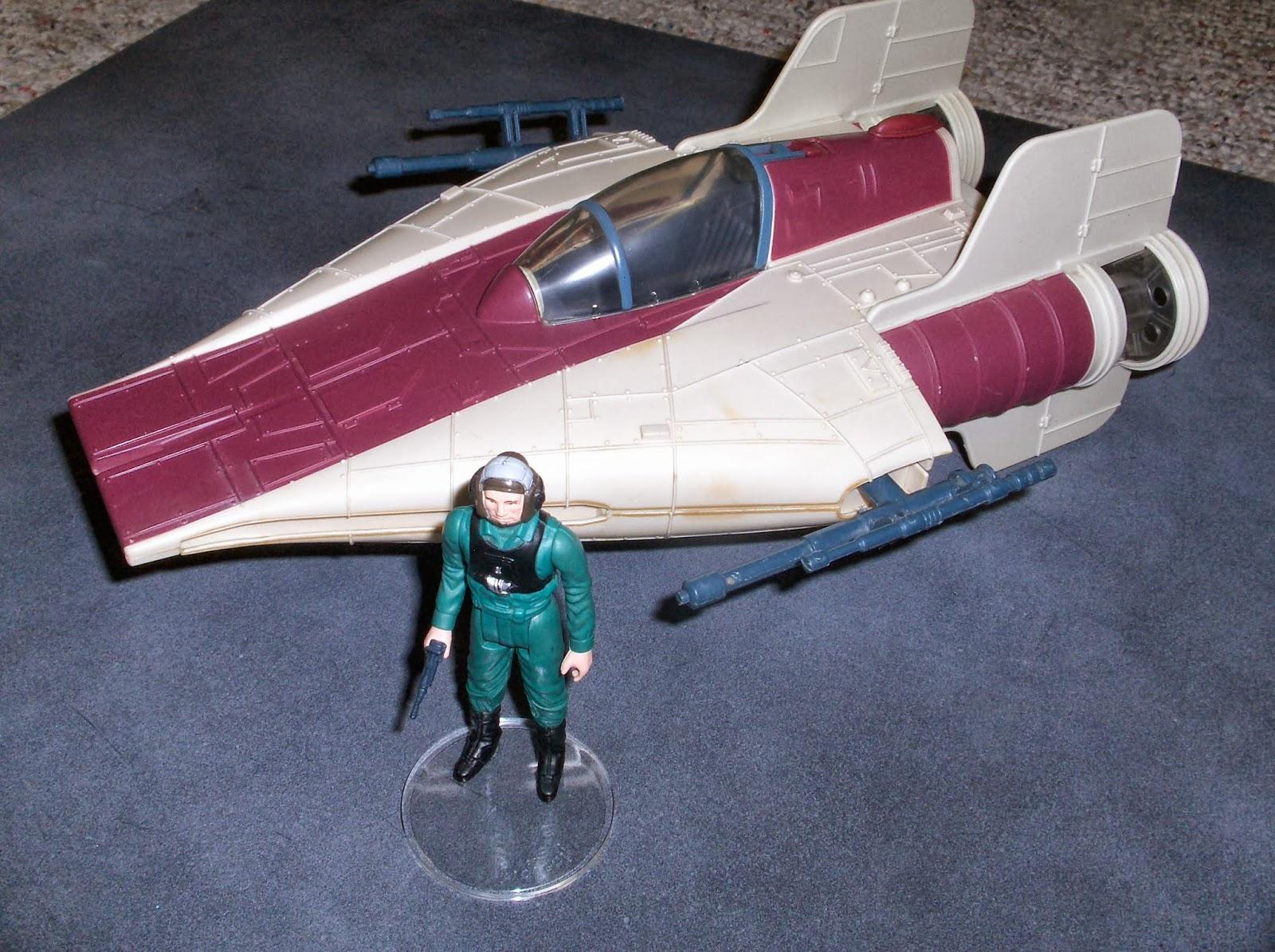 vintage kenner star wars toys droids a wing fighter landing gear repair restoration. Black Bedroom Furniture Sets. Home Design Ideas