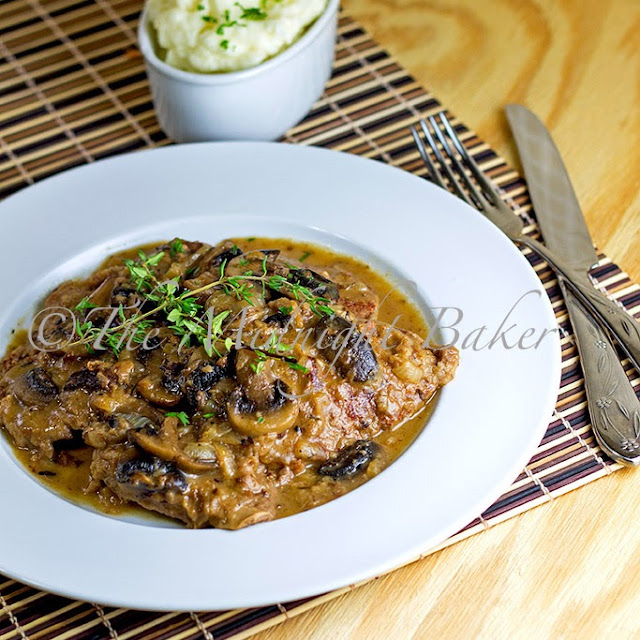 The Midnight Baker: Braised Beef with Onion Mushroom Gravy