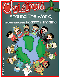 http://www.teacherspayteachers.com/Product/Christmas-Around-The-World-Hanukkah-Kwanzaa-Readers-Theatre-and-Activities-406112