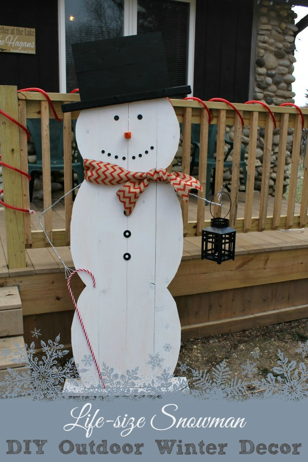 Life Size Snowman Diy Outdoor Winter Decor Outnumbered 3 To 1