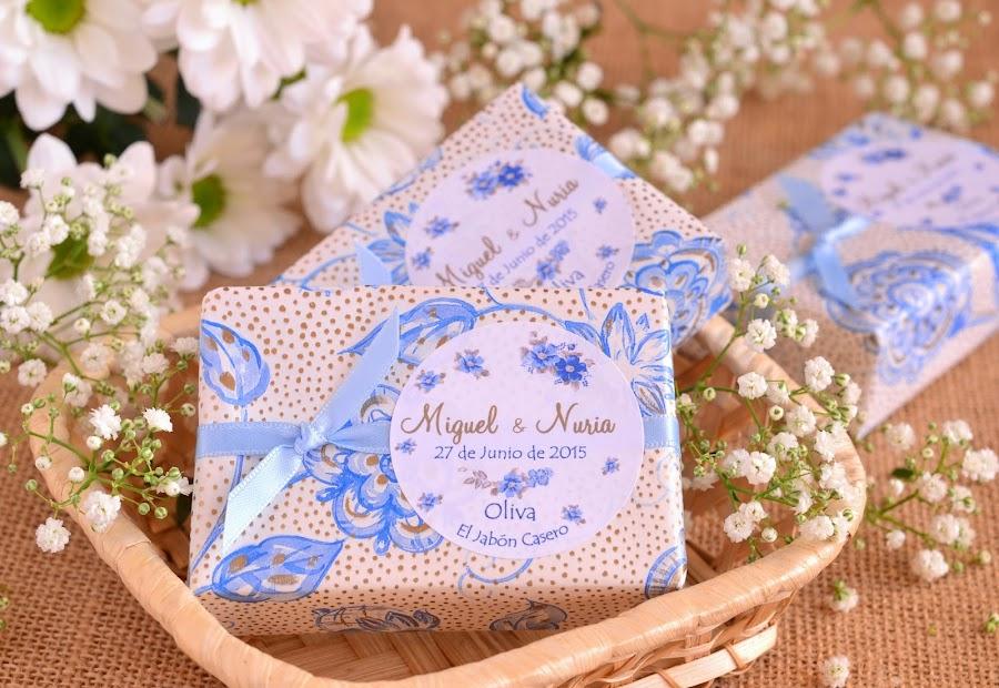 detalles boda en azul jabones naturales