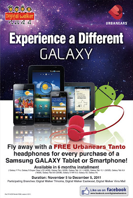 Free Urbanears headphones with every Samsung Galaxy purchase