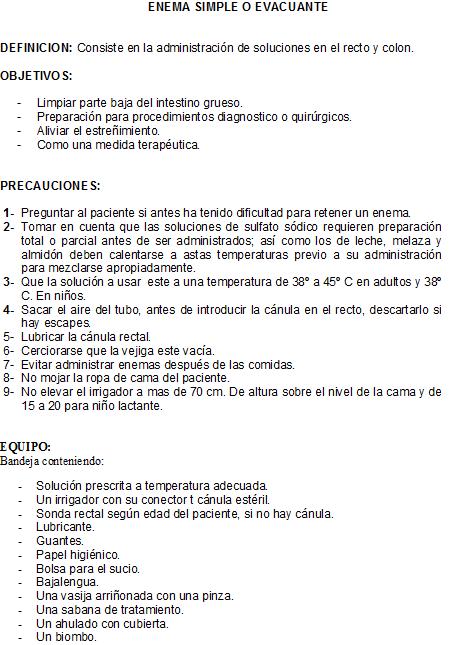 Baño General En Cama Del Paciente:CLASES FUNDAMENTOS DE ENFERMERIA: Enema Evacuante