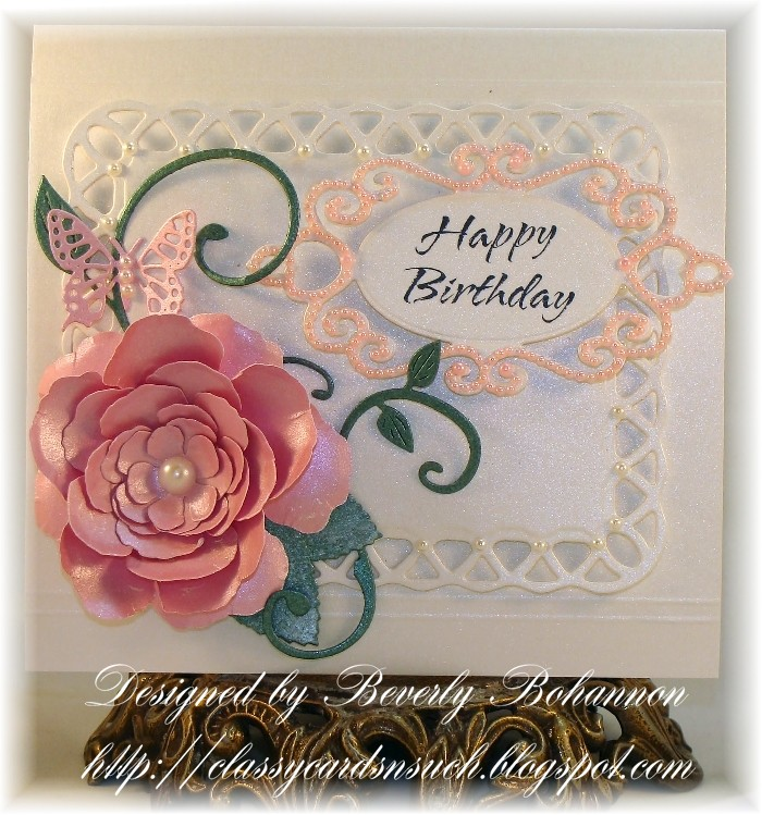 rose creations birthday card - Special Birthday Cards