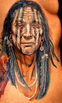 Tatuagem de Caboclos e Indios
