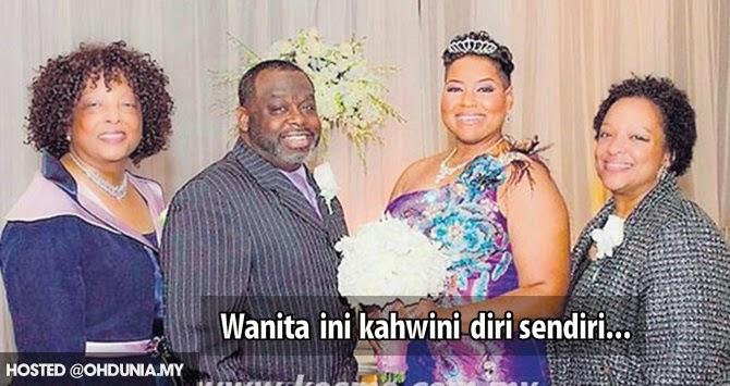 Wanita ini kahwini diri sendiri selepas gagal cari suami di usia 40 tahun