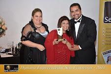 Recebendo o troféu COLUNISTA SEM FRONTEIRAS 2014