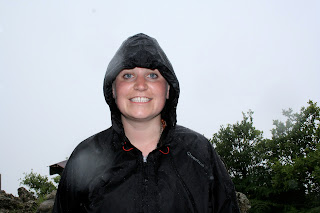 rain coat, rain jacket, smile despite the rain, Plentzia to Armintza walk, The Basque Country, Bilbao
