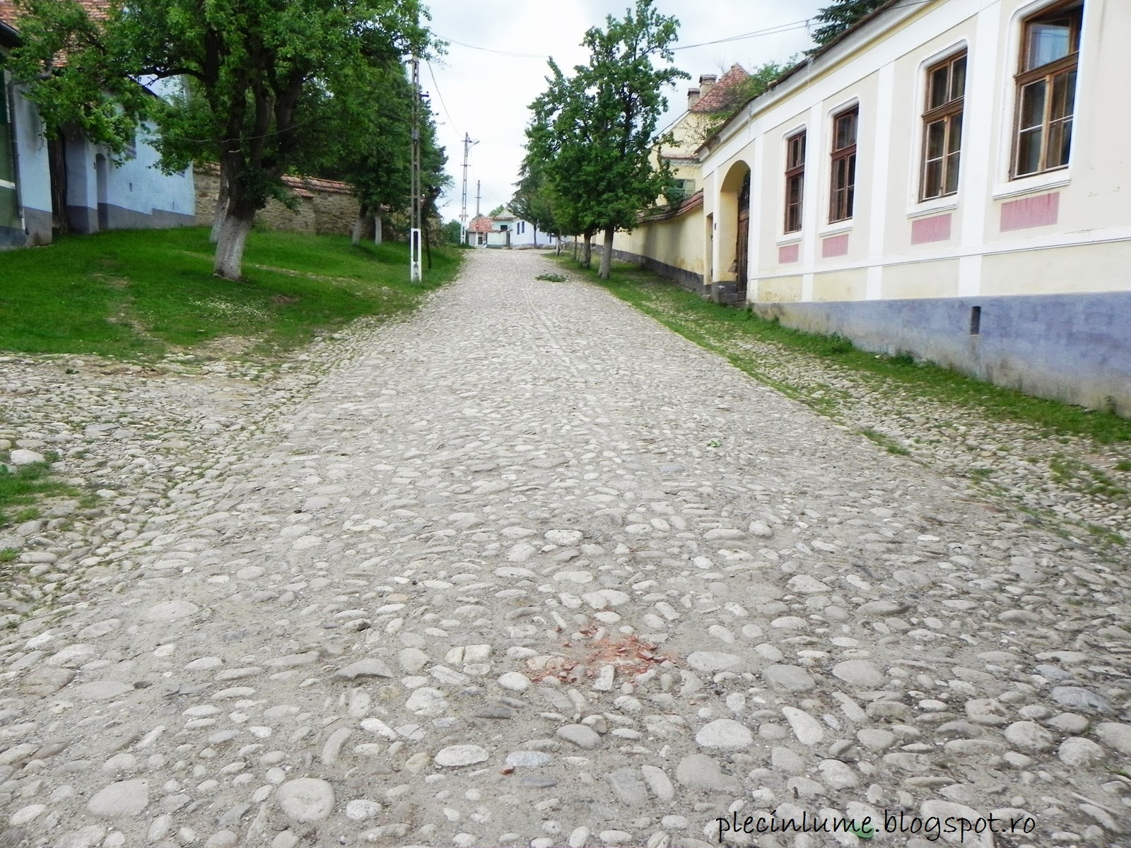 Drumul spre biserica din Viscri
