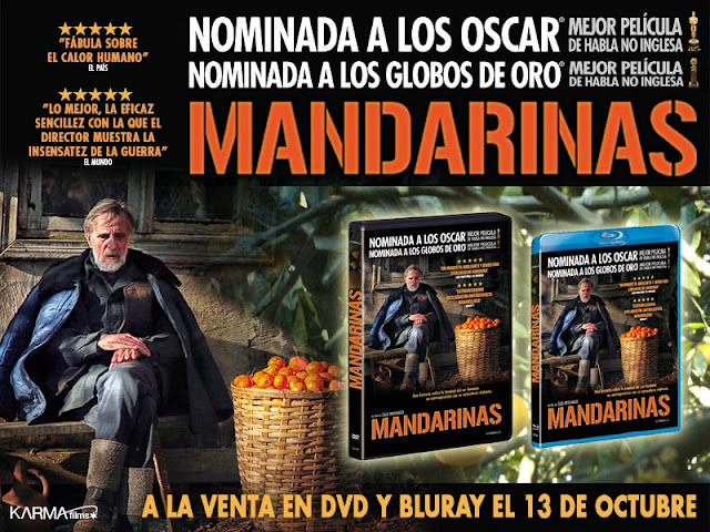 Concurso 'Mandarinas': Tenemos DVDs de la película para vosotros