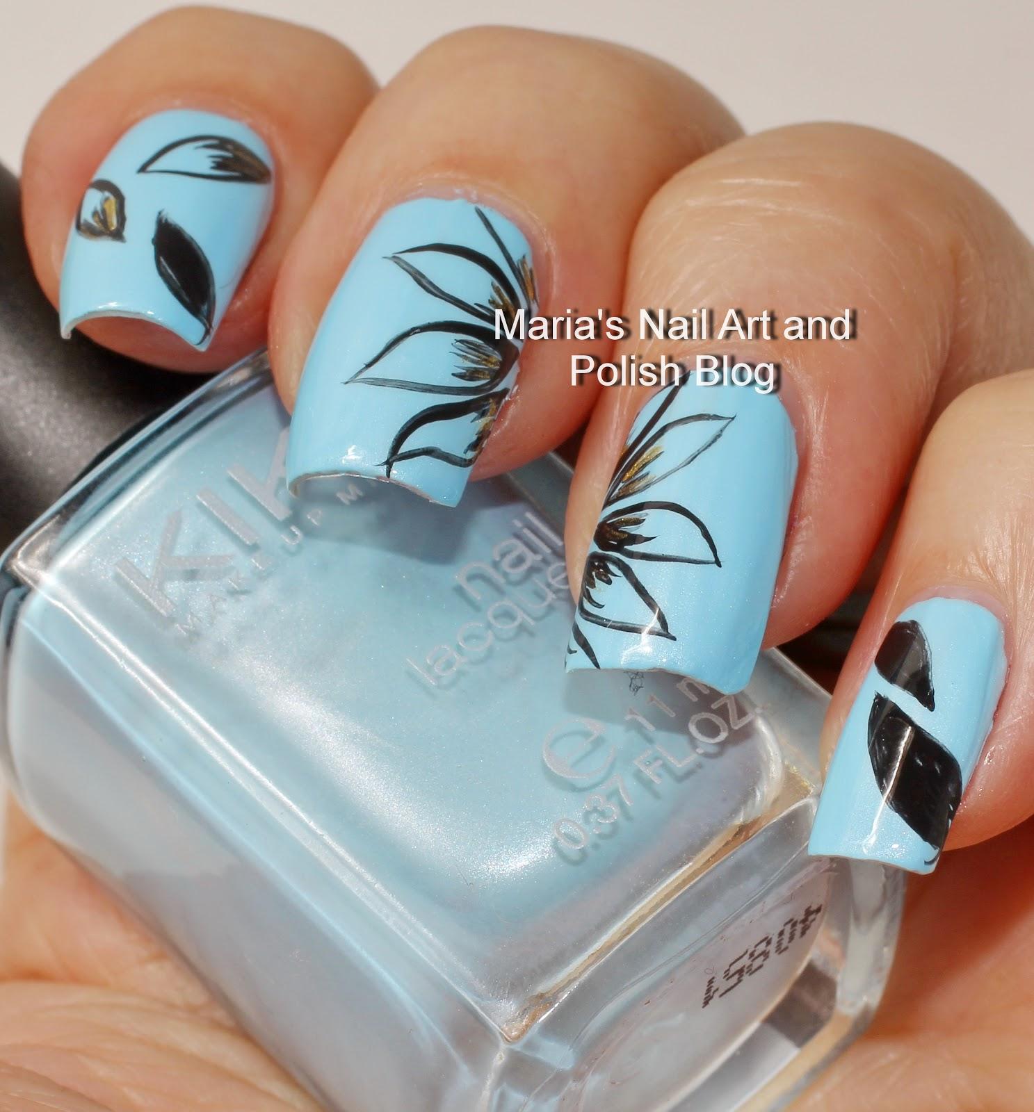 Marias Nail Art and Polish Blog: Abstract floral petal nail art