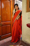 Archana veda in red saree photos-thumbnail-13