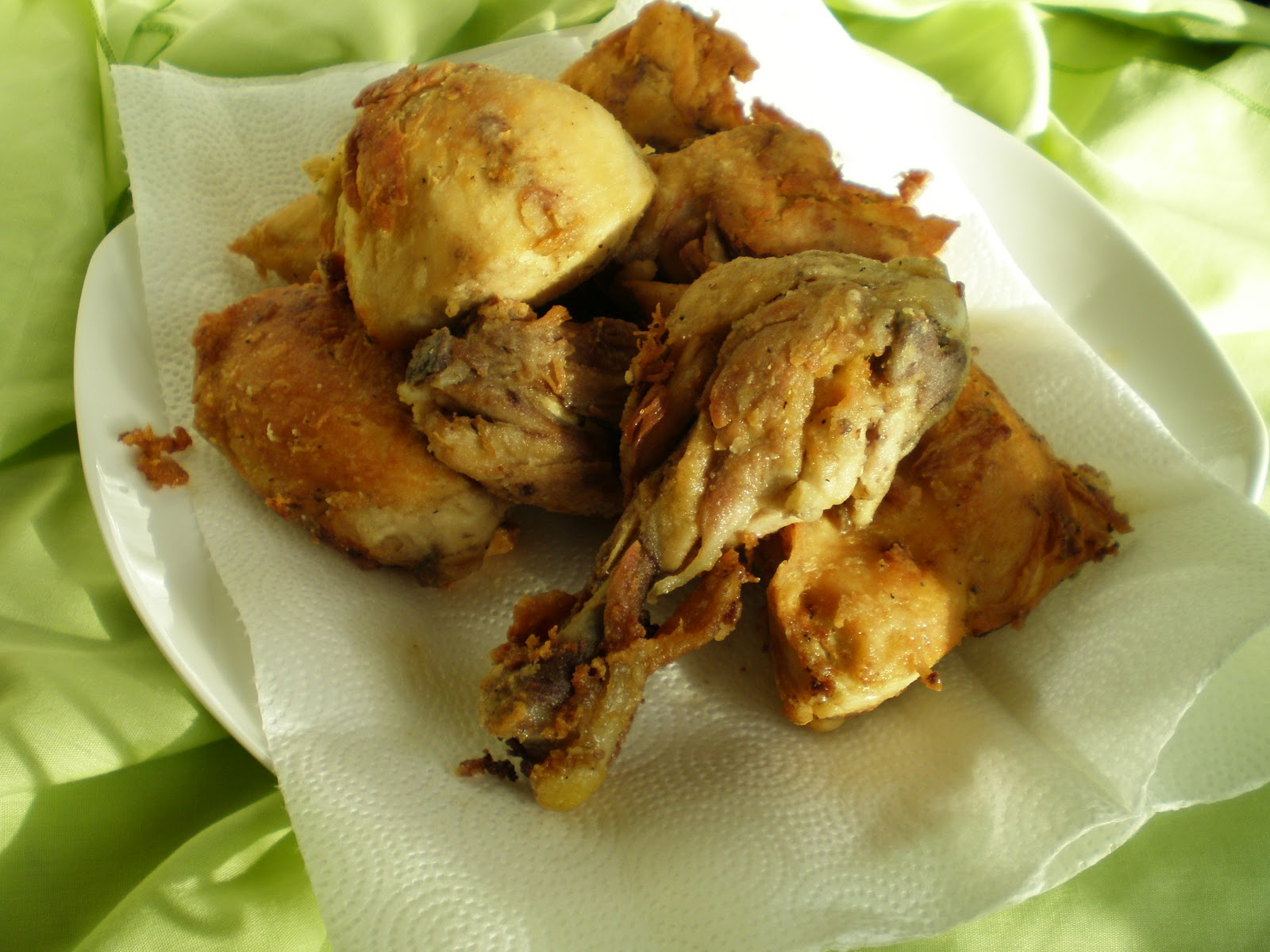 Basil and Rosemary's Kitchen: Fried Boiled Chicken