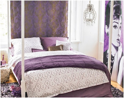 Women-violet bedrooms for teenage