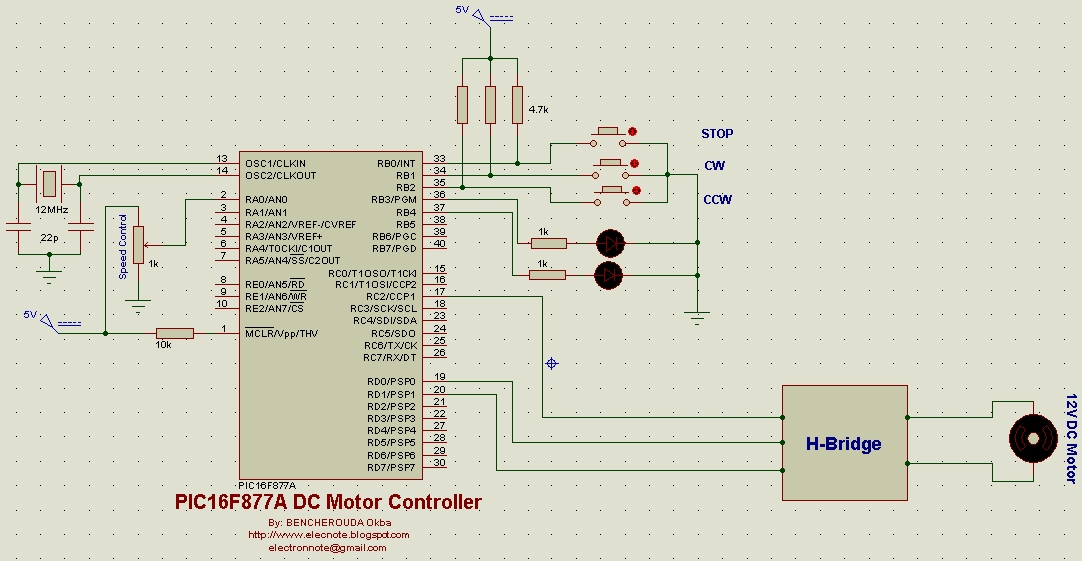 Electronics Note Dc Motor Speed And Direction Controller