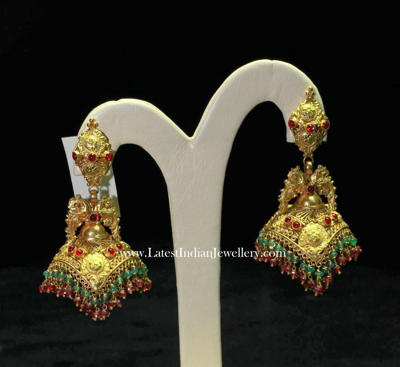 Elegant Traditional Gold Jhumkis