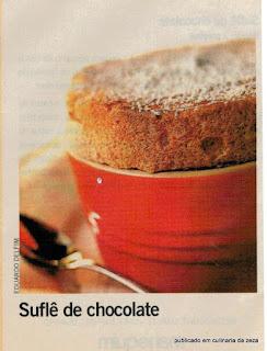 RECEITA DE SUFLÈ DE CHOCOLATE