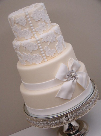 Wedding Cakes Pictures: From White to Ivory Textures