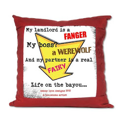 Life on the Bayou Suede Pillow