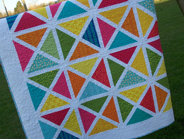 Busy Hands Quilts: Modern Garden Arbor Oversized Lap Twin Quilt in ... : bright quilts - Adamdwight.com
