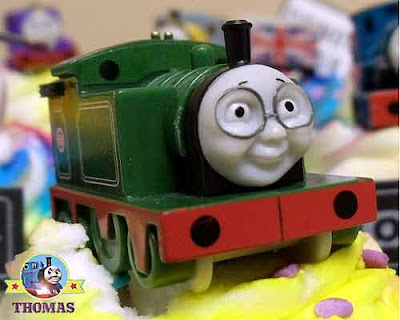 Party Thomas the train cake decorating suggestion Whiff the tank engine childrens cupcake topper kit