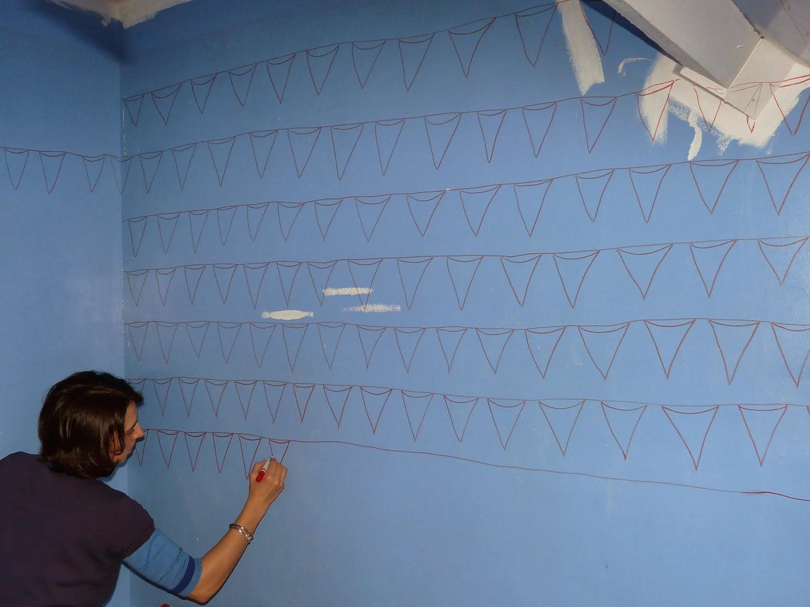 tante cath le blog faire son papier peint ou peindre son papier. Black Bedroom Furniture Sets. Home Design Ideas