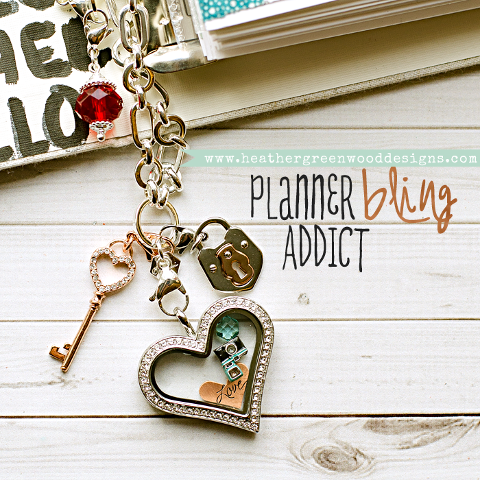 bling up your planners - FiloFax, Studio Calico Handbook, other planners, scrapbook albums and other ring binders with Origami Owl dangles, chains and living lockets