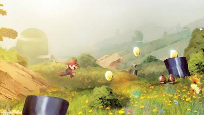 Ilustración de video juego de Mario Bros