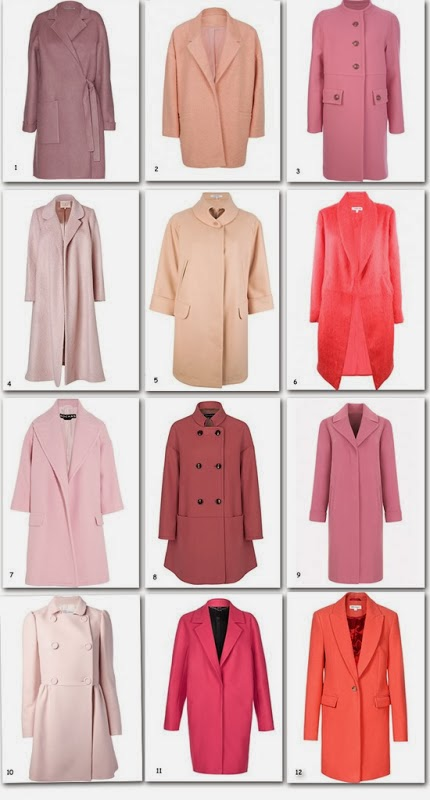 Winter collection in various shades of pink