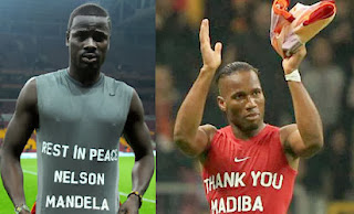 Eboue and Drogba pay tribute to Nelson Mandela