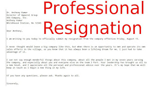 Professional resignation letters samples business letters professional resignation letters expocarfo Choice Image